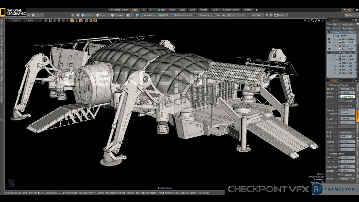 3d Texturing of mars vehicles