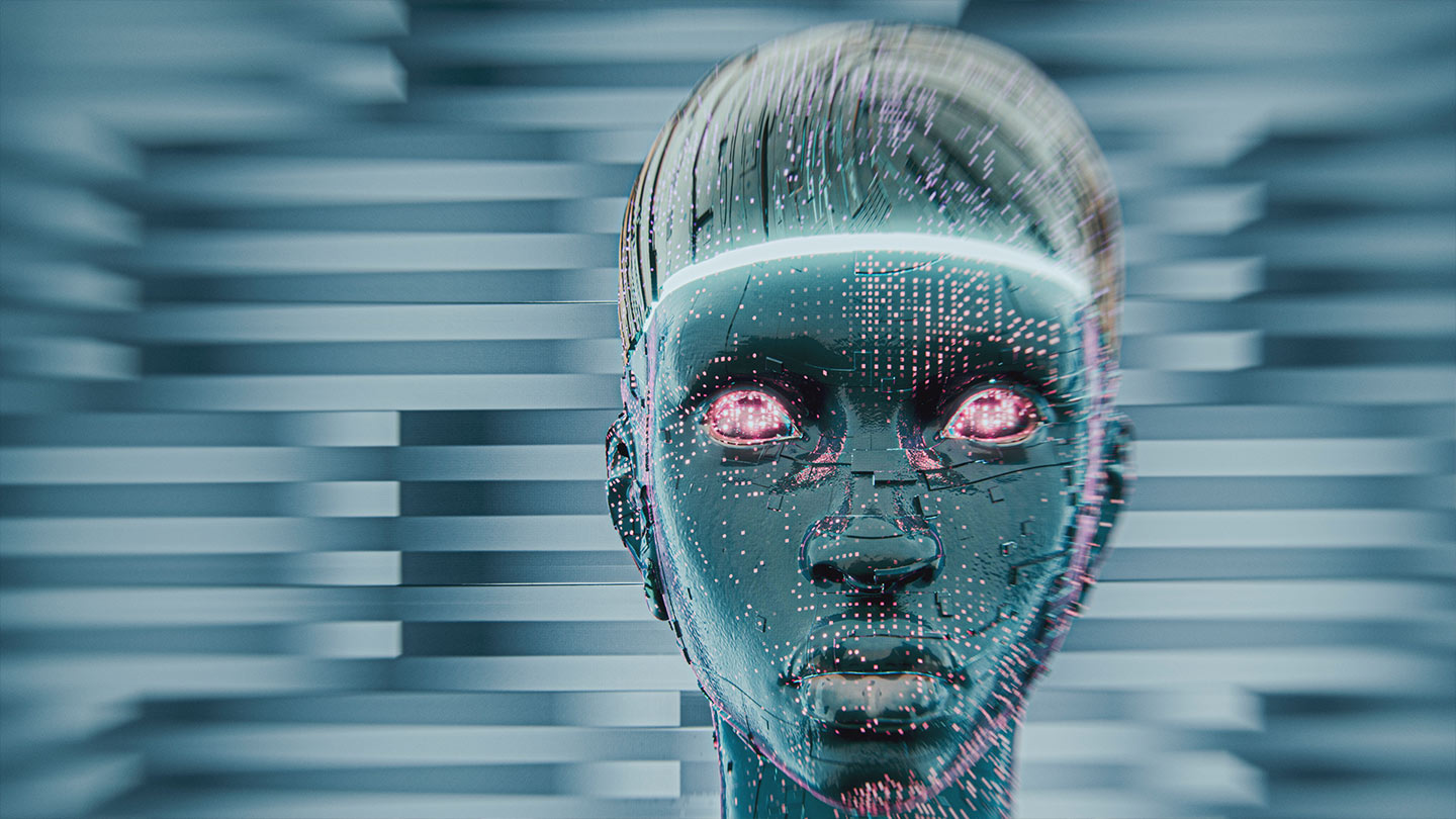 Digital computer face