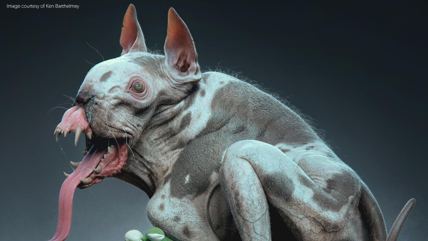Demon dog VFX model by Ken Barhelmey