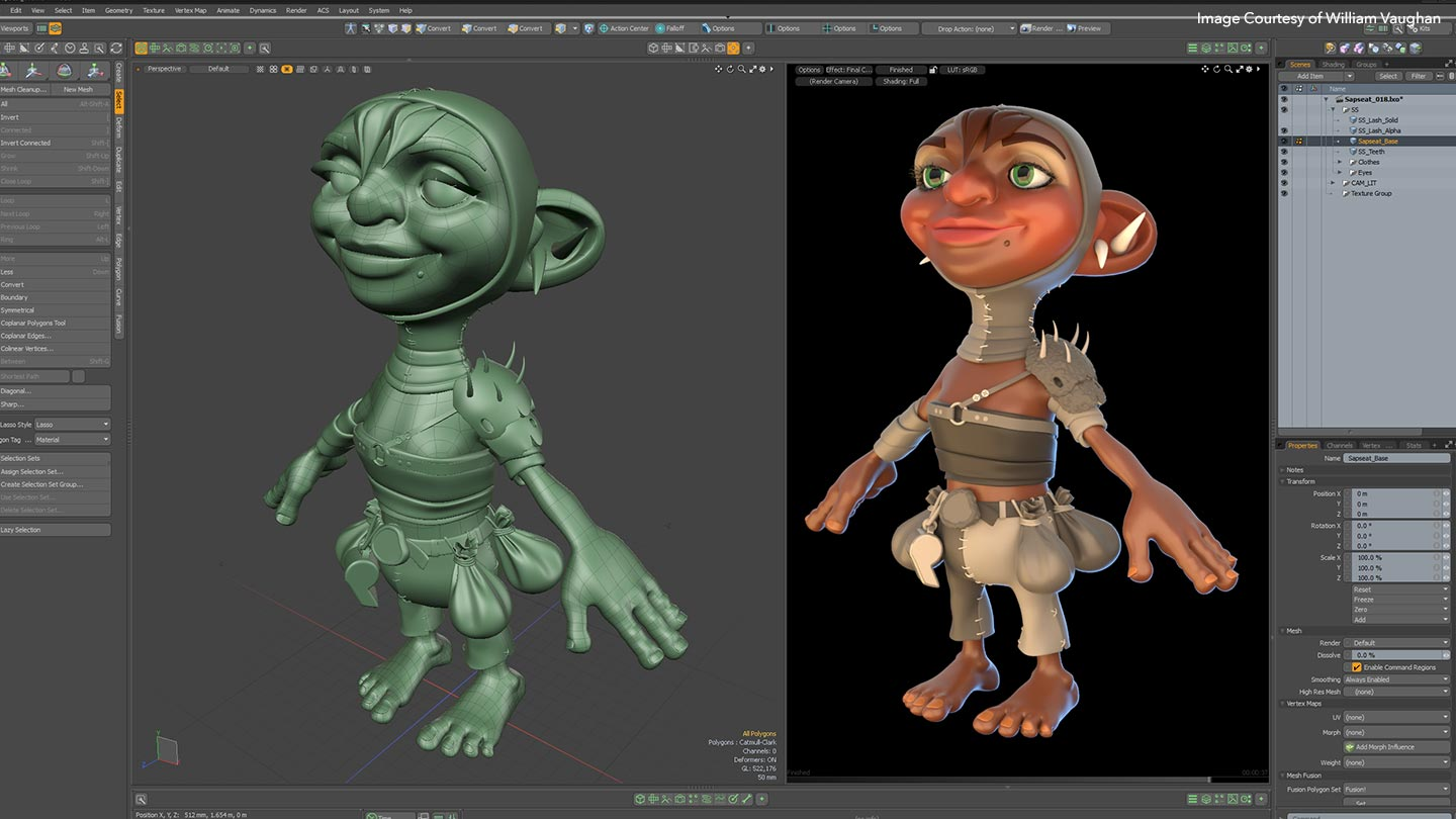 Character modelling in Modo