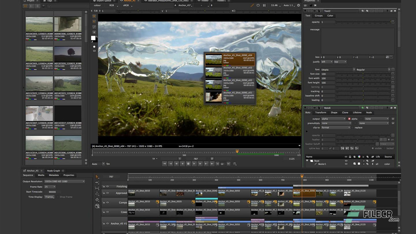 Nuke Studio, editorial and finishing compositing, UI