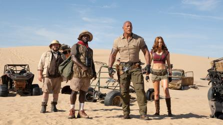 Jumanji: The Next Level cast including Dwayne Johnson