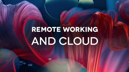Remote Working and Cloud abstract imagery