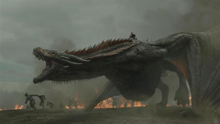 Dragon and Daenerys Targaryen