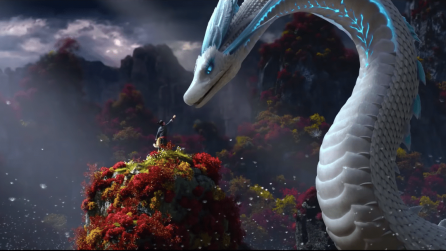Animated dragon and boy from White Snake by LightChaser studios