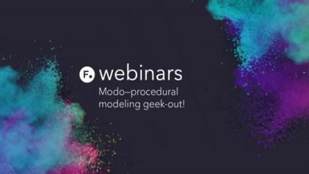Modo procedural modeling webinar with Greg Brown