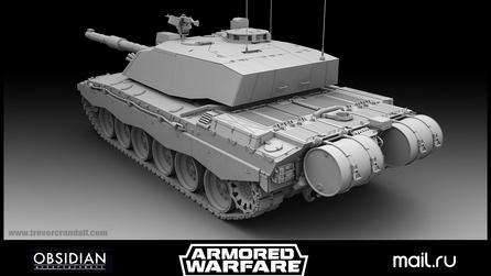 3d modeling tank high res back with Modo