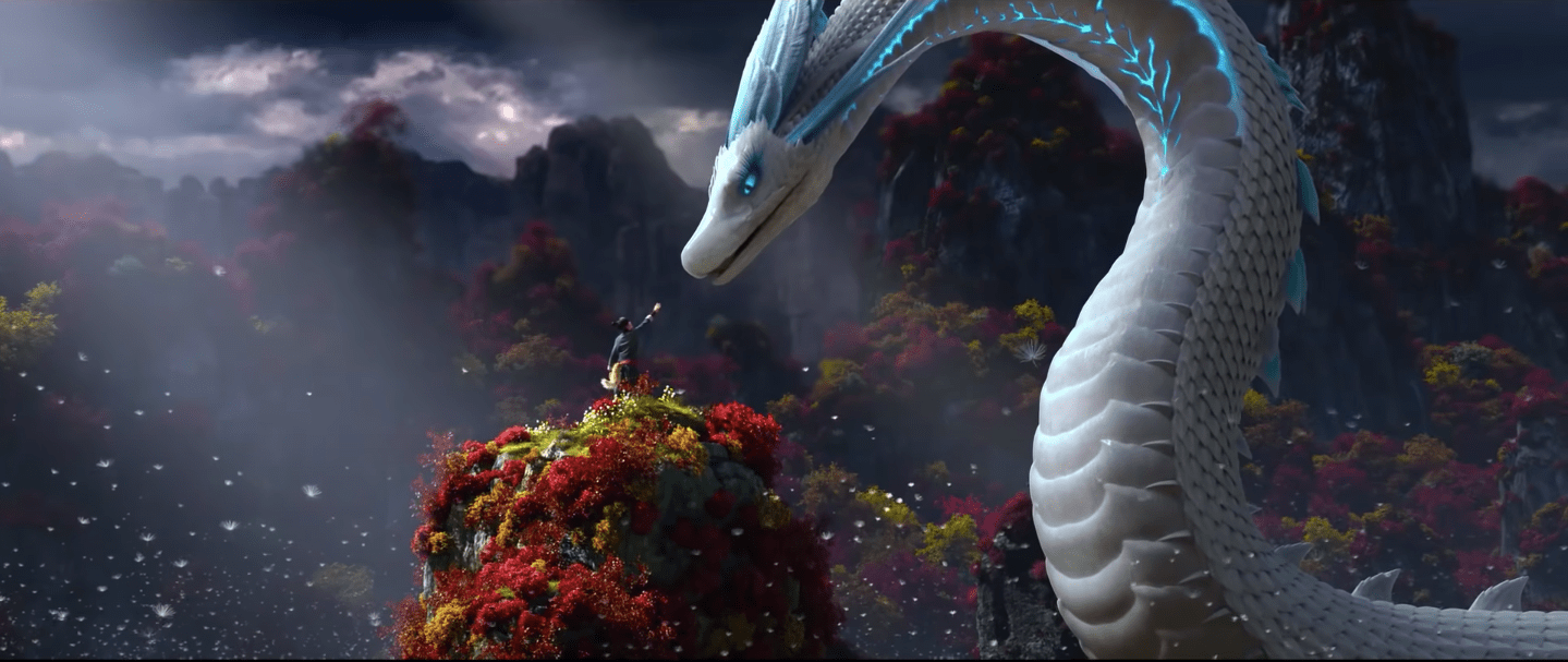 CG animated Dragon from White Snake - Light Chaser