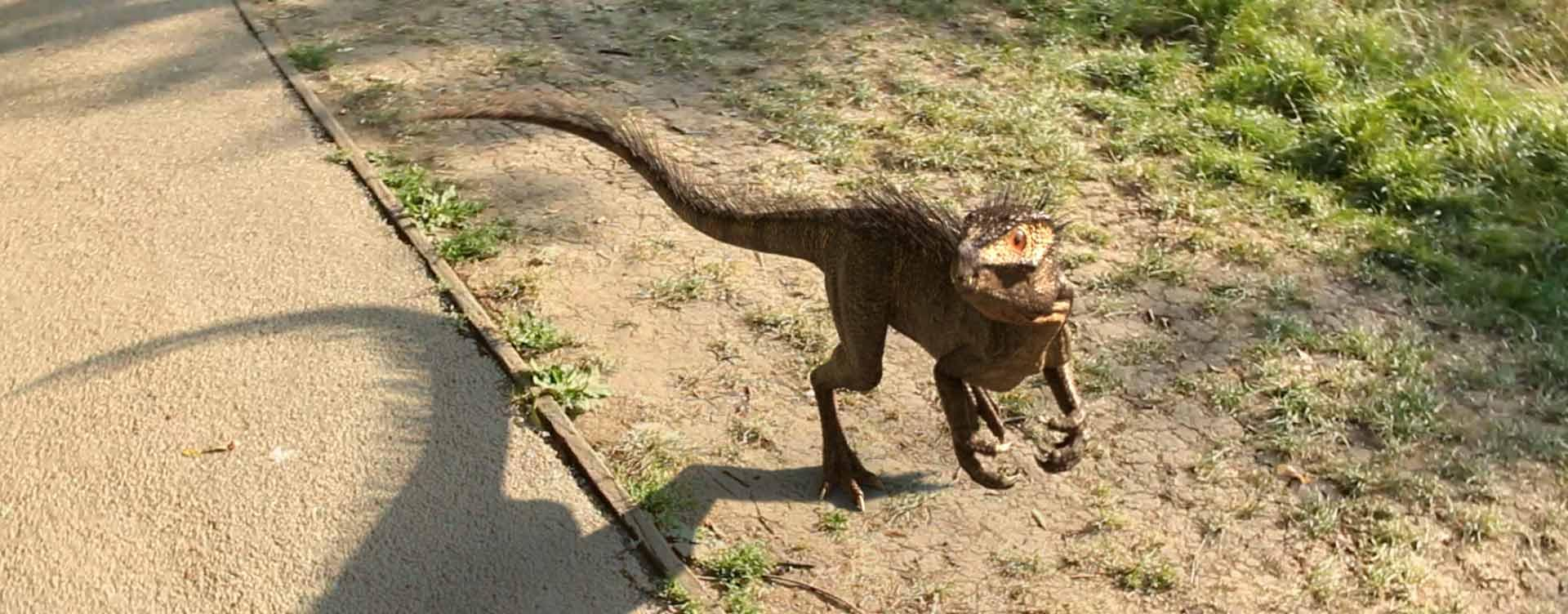 3D CG dinosaur made in Nuke