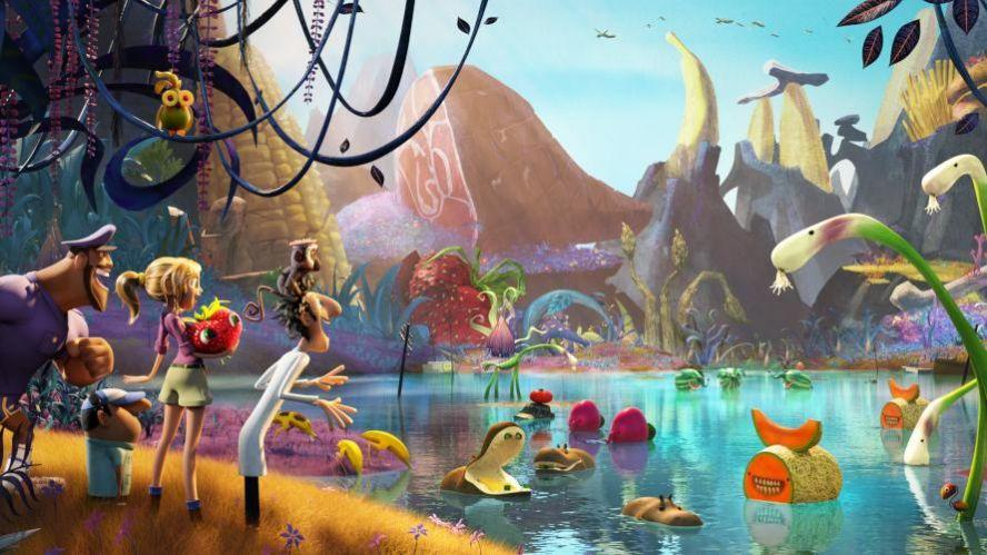 Shot from Cloudy with a chance of meatballs 2, which used Foundry's Flix in production