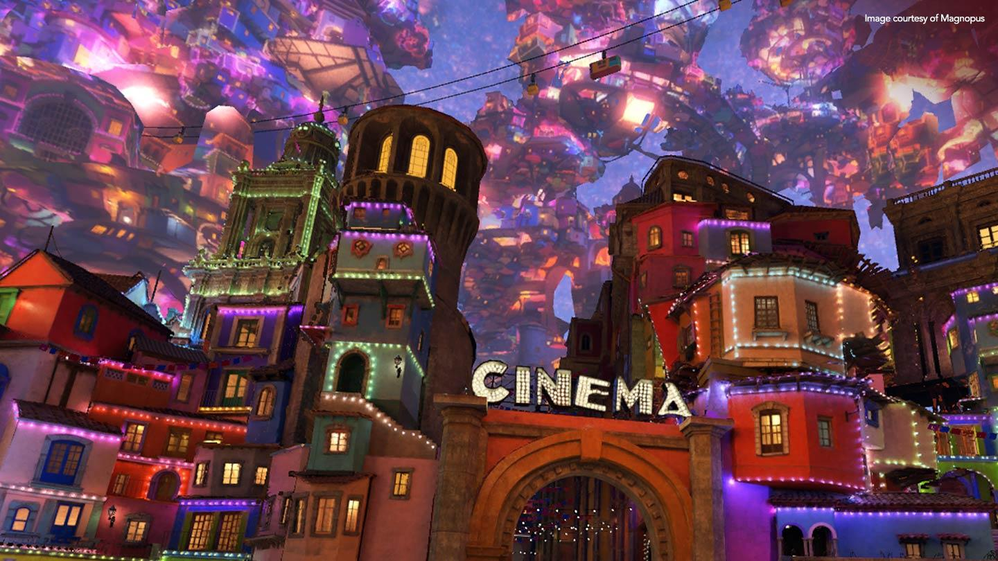 Cinema rendered in 3d