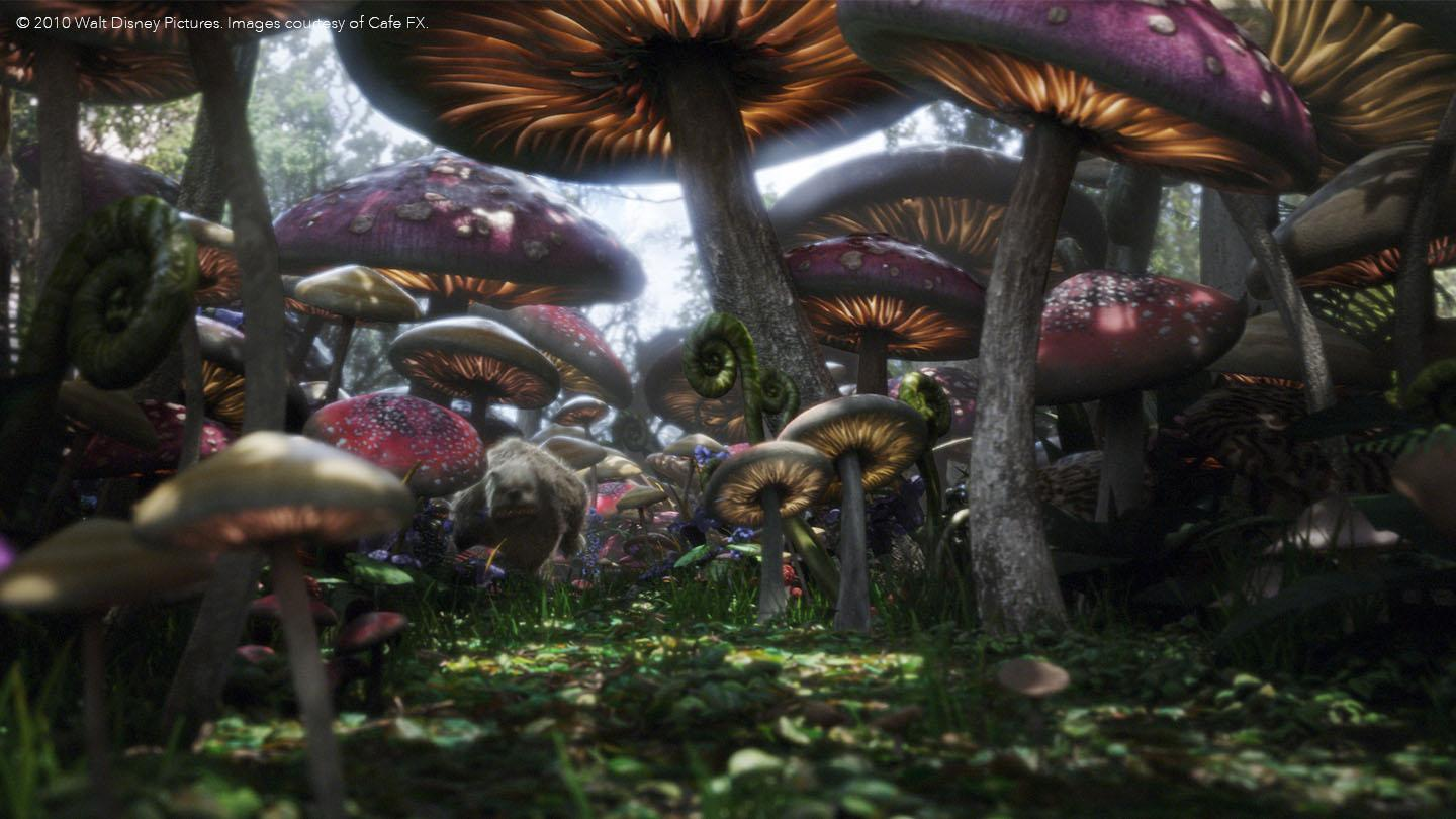 Magical CGI effects used on Alice in Wonderland created in Nuke VFX software