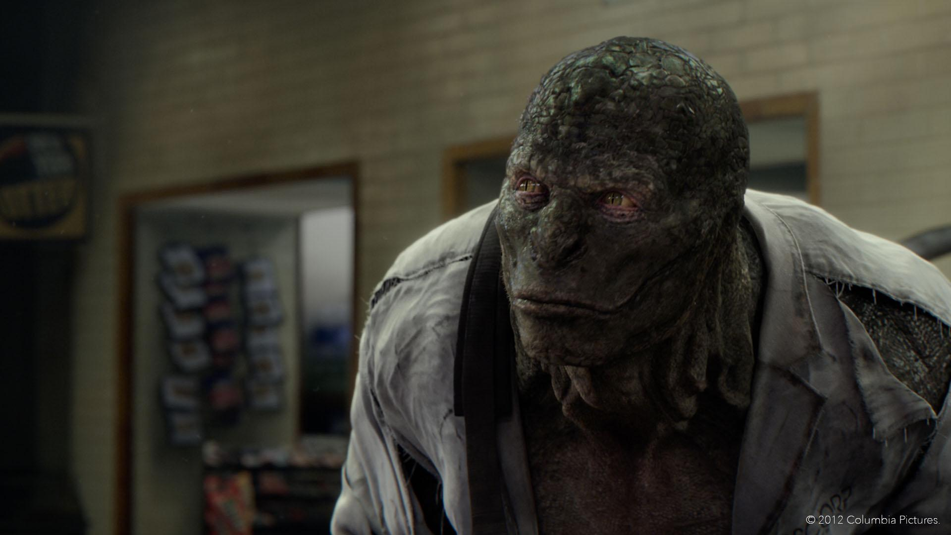 The Lizard gets some CGI lighting help from Katana for The Amazing Spiderman