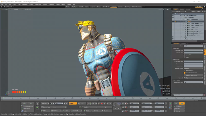 Performance efficiency example screenshot for Modo 11