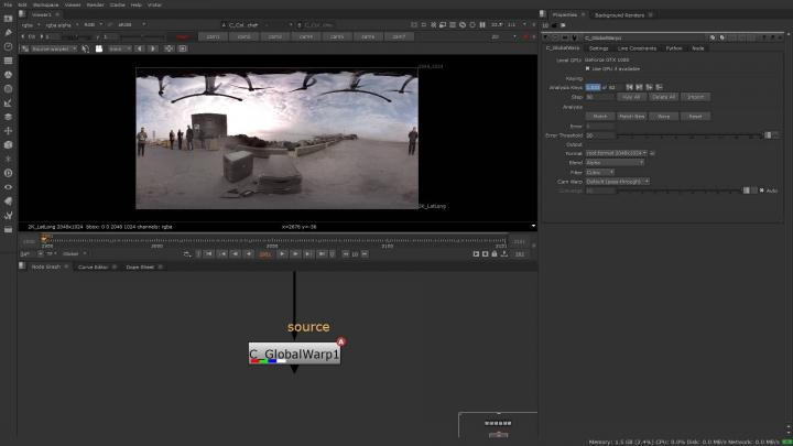 Global Warp in Cara VR 2.0
