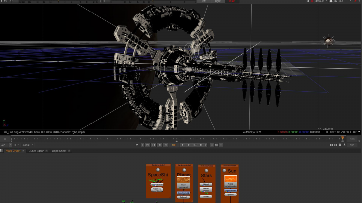 360° stereo rendering and slit-scan shader for Cara VR - virtual reality plug-in for Nuke