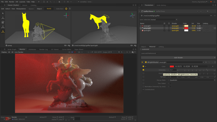 Powerful lighting tools Katana 3.0