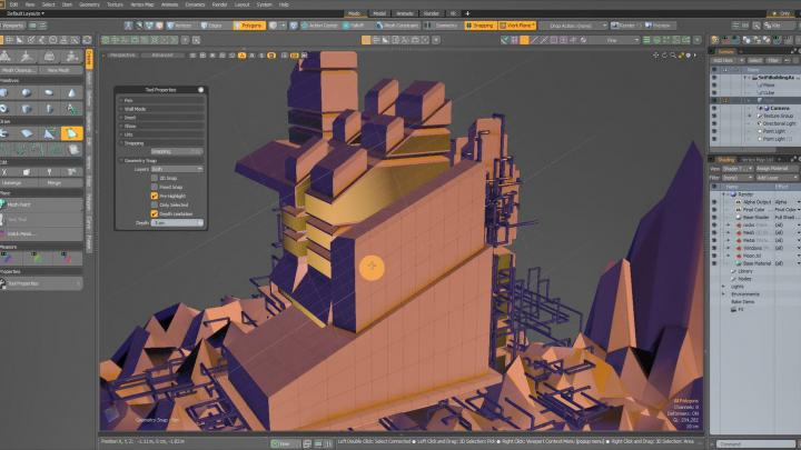 Direct modeling tools in Modo 12.2