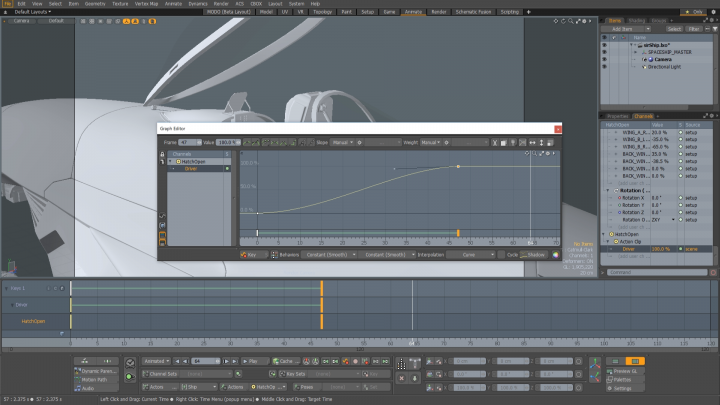 Animation improvements in Modo 12.1