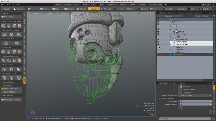 Modo 11 modeling workflow enchancements - split example