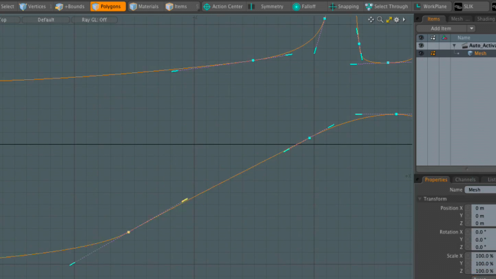 Improvements to bézier curve editing mean more control over your models