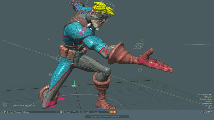 Modo feature rigging for 3D animation