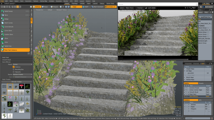Meshpaint improvements in Modo 12.0