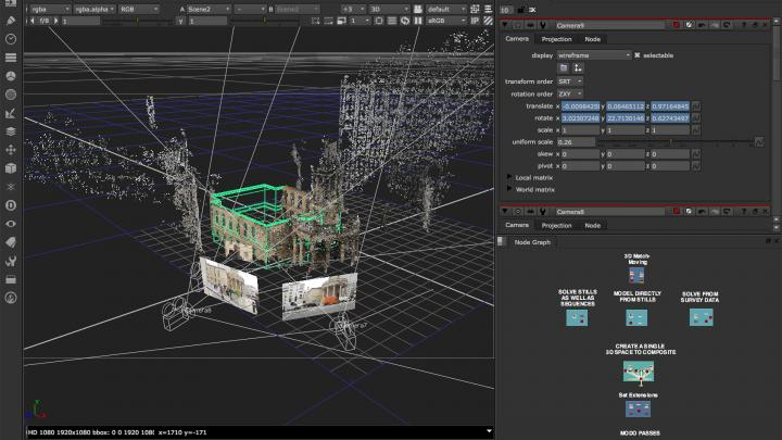 Nuke's 3D workspace feature lets you to do complex compositing easily