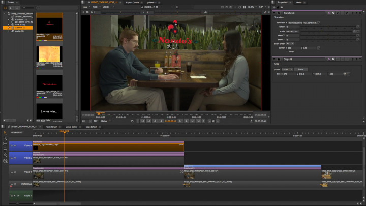 Multi-track timeline for Nuke Studio allows better rendering and compositing timings