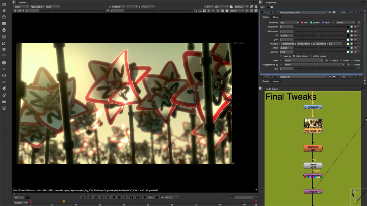 Nuke's industry-leading nodel toolset making compositing and review faster and easier than ever before