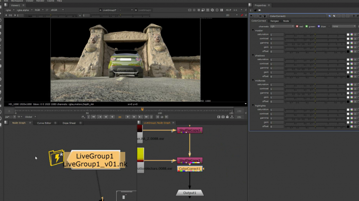 Nuke 11 live group for group compositing feature