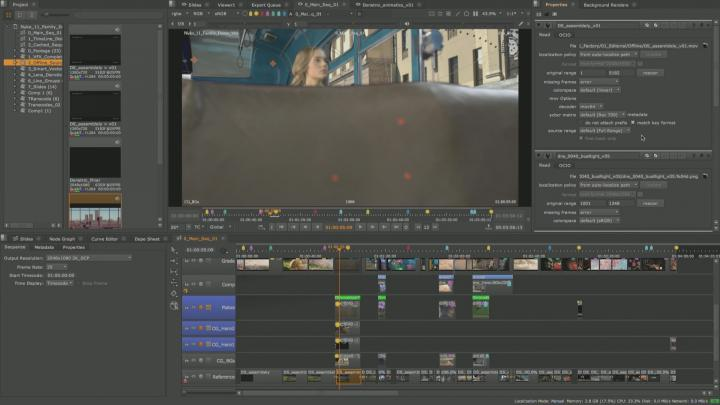 Expanded source clip properties in Nuke 11.1
