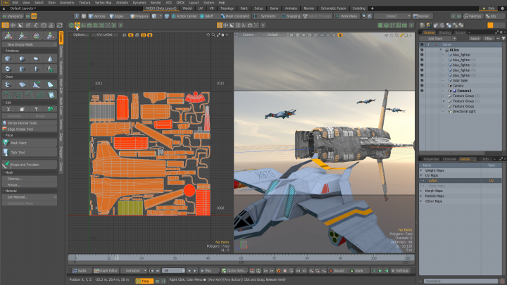 Integrated VR viewport in Modo 12.1