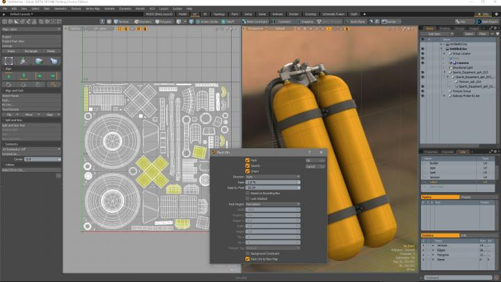 UV tools and MeshFusion for Modo 12.1
