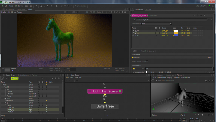 Katana 3D lighting and look software for artists in film