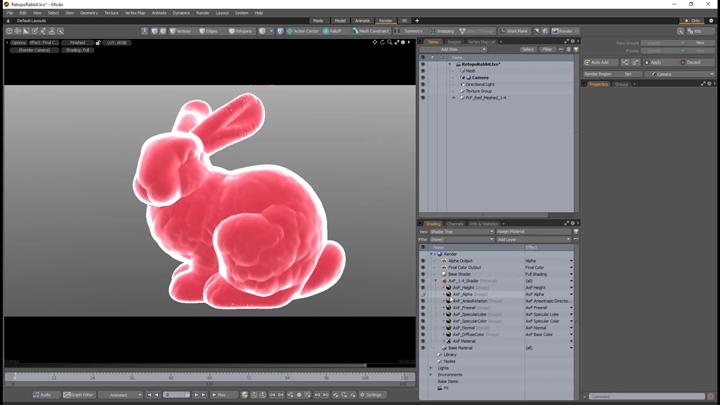 Red rabbit modelled with Modo