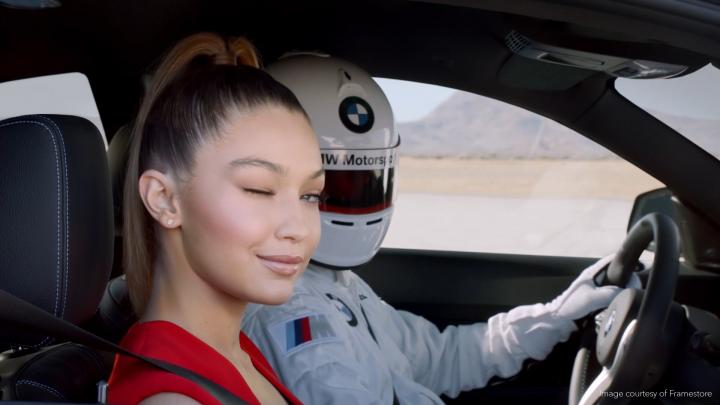 Gigi Hadid in a 360 degree VR video by BMW and Framestore