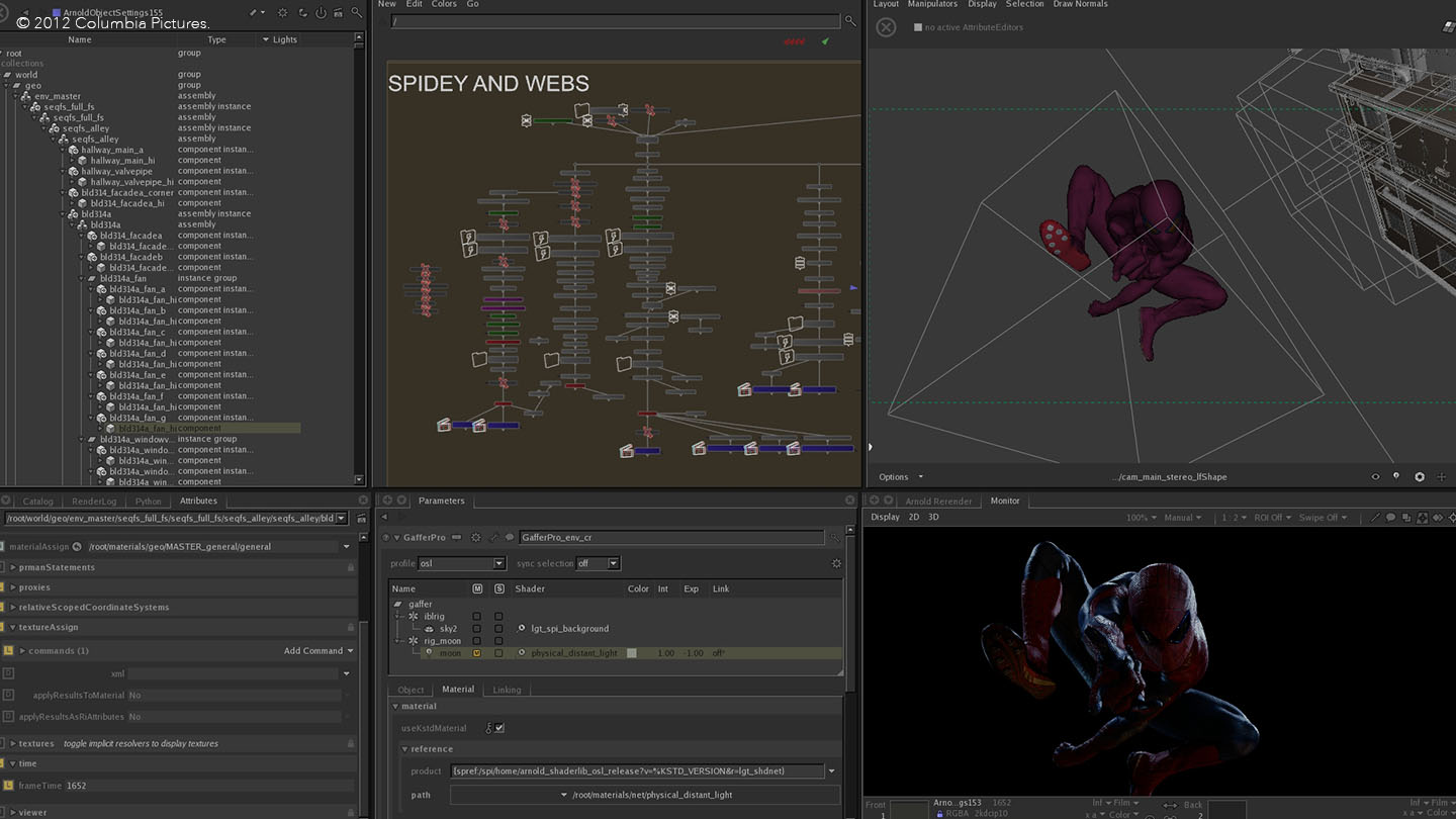 Find out more about the software behind The Amazing Spiderman Nuke
