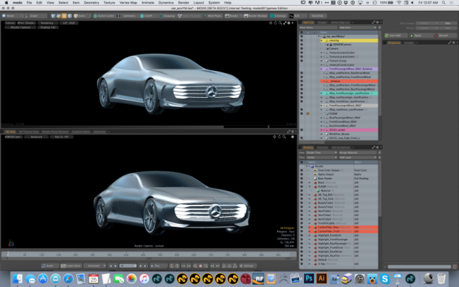 3d car design with Foundry and Mercedes