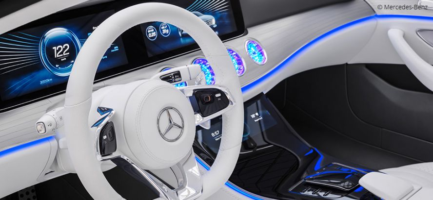 Mercedes and Foundry create automotive future with UI/UX for cars