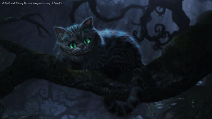 The CGI Cheshire Cat from Alice in Wonderland
