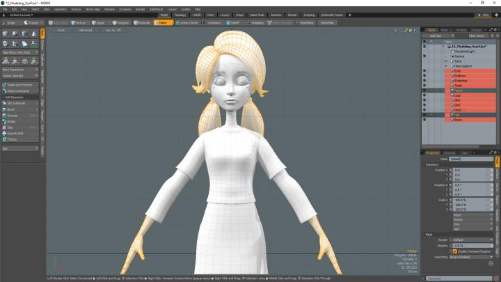 Advanced 3d modeling character creation with Warner McGee