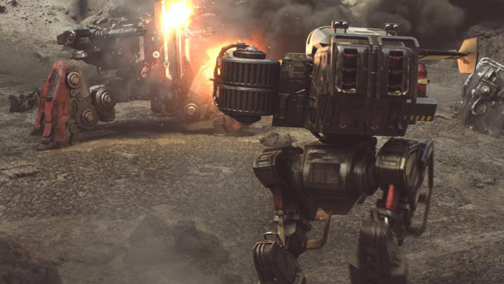 Nuke for compositing on War Robots cinematic trailer