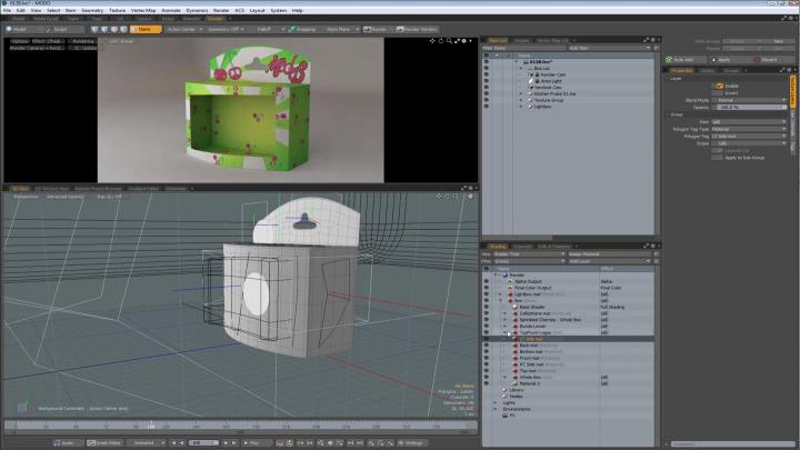 Texturing a product package with Modo training series