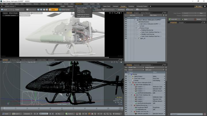 Integration between SOLIDWORKS and Modo
