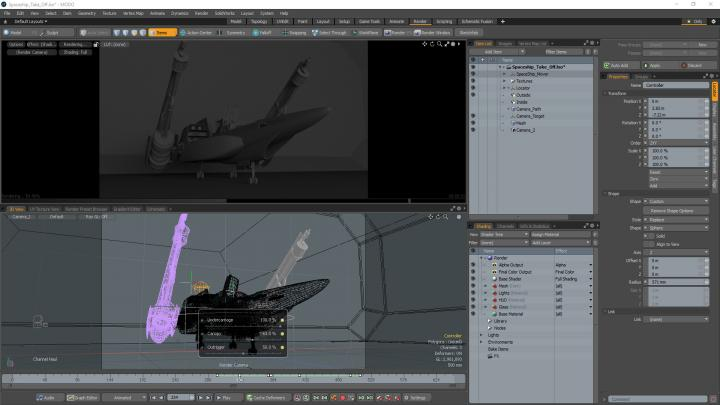 3D asset and modeling creation in Modo
