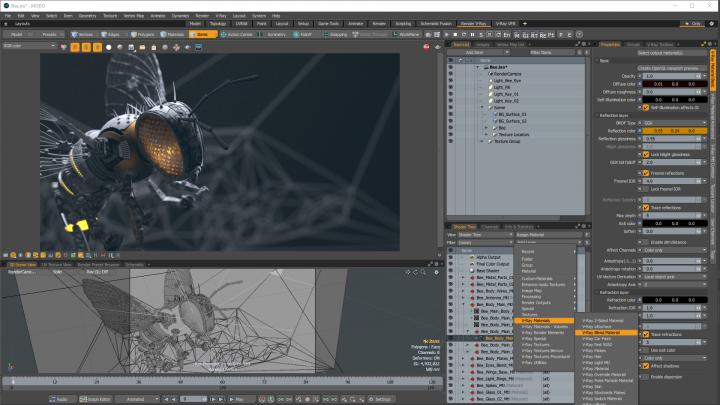 How V-Ray for Modo works in-app
